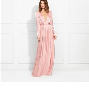 Rachel Zoe Rosalie metallic chiffon dress.